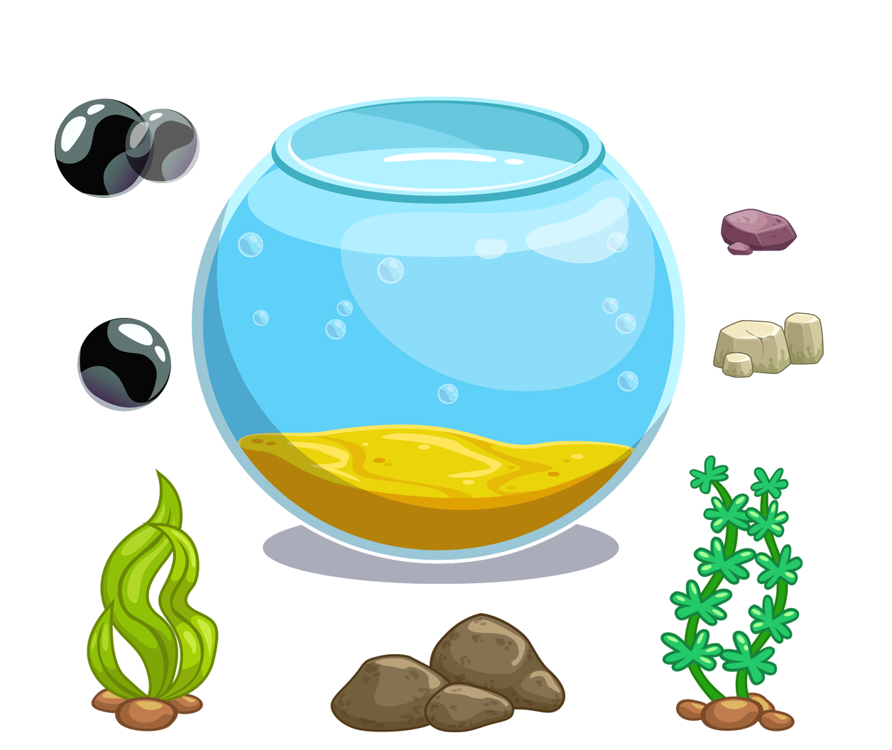 Fish tank decorations clipart svg transparent library Cartoon Aquarium Icon - Cartoon fish tank 1256*1057 transprent Png ... svg transparent library