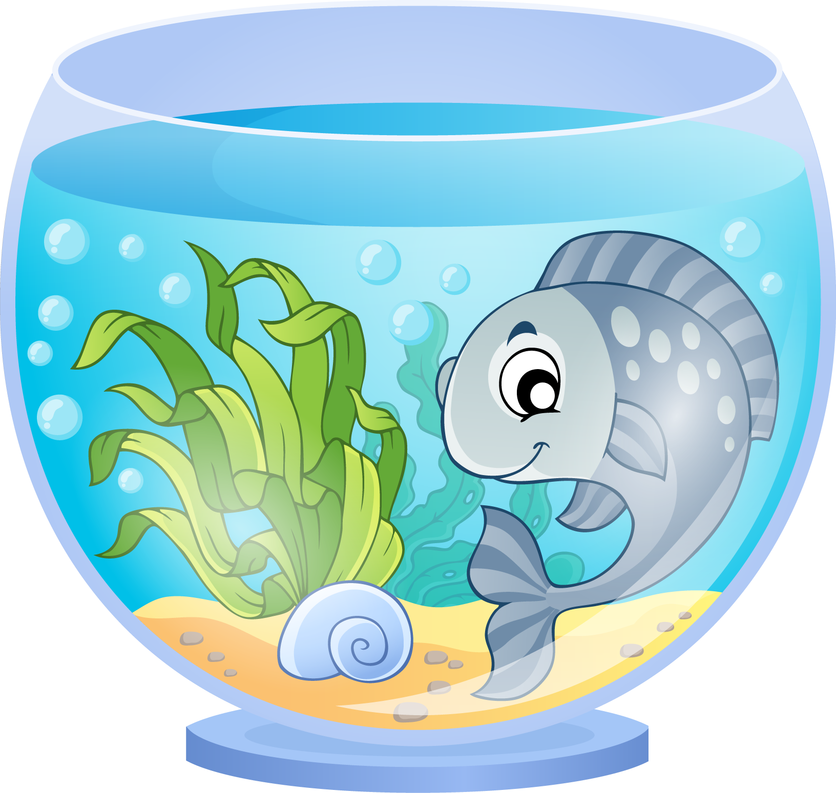 Fish tank transparent clipart vector freeuse Aquarium Cartoon Goldfish - Blue fish and fish tank 1632*1549 ... vector freeuse