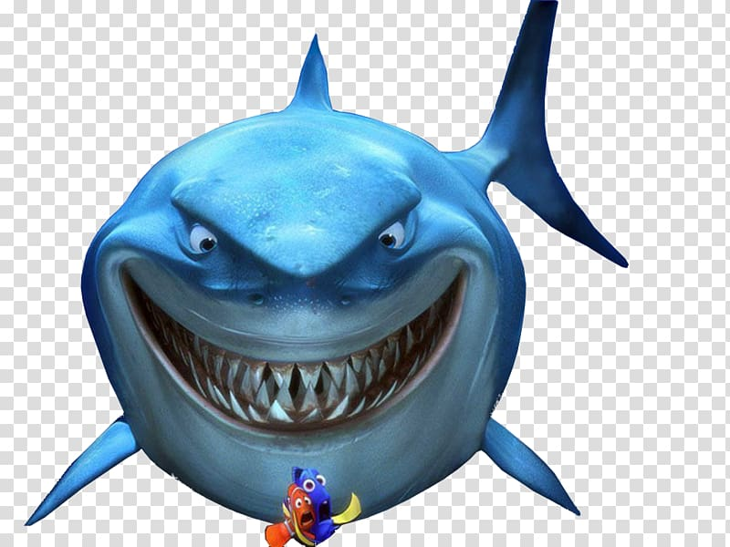 Fish are friends not food clipart png black and white Marlin Bruce Great white shark Pixar Drawing, sharks transparent ... black and white