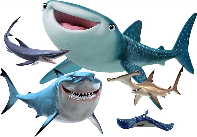 Fish are friends not food clipart png png freeuse stock Finding Nemo shark and ray characters, Bruce Shark Character Pixar ... png freeuse stock