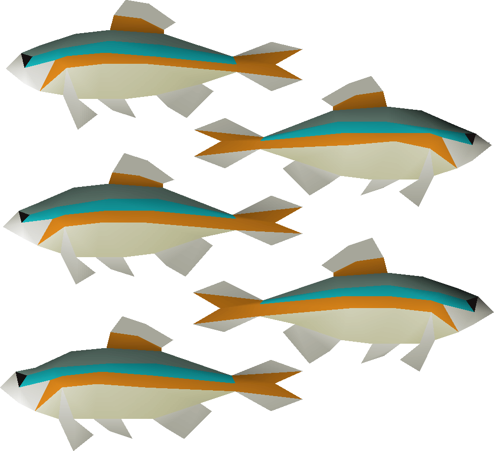 Fish being caught clipart graphic black and white download Minnow | Old School RuneScape Wiki | FANDOM powered by Wikia graphic black and white download