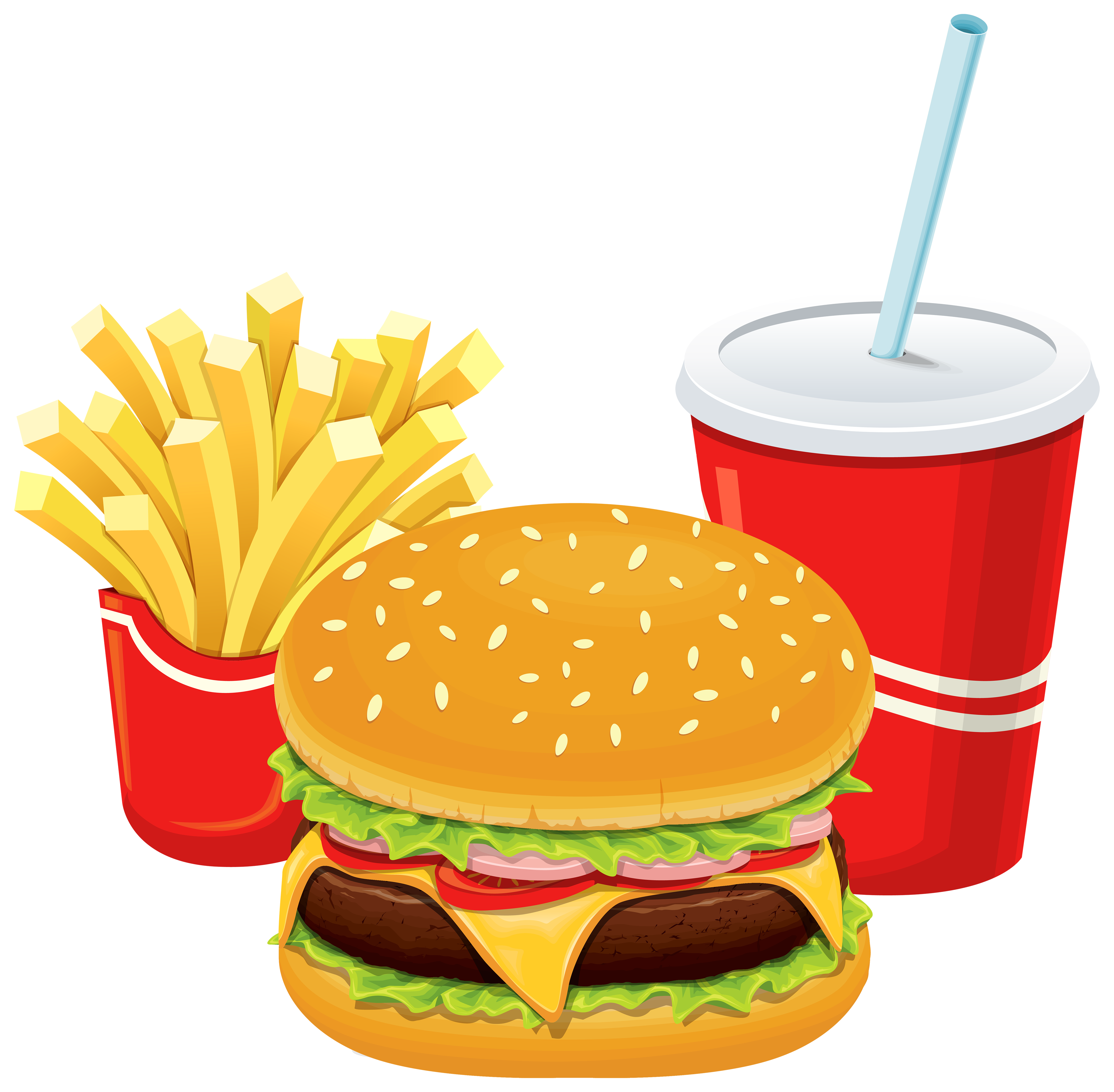 Hot dog and hamburger clipart picture transparent stock Hamburger Fries and Cola PNG Clipart - Best WEB Clipart picture transparent stock