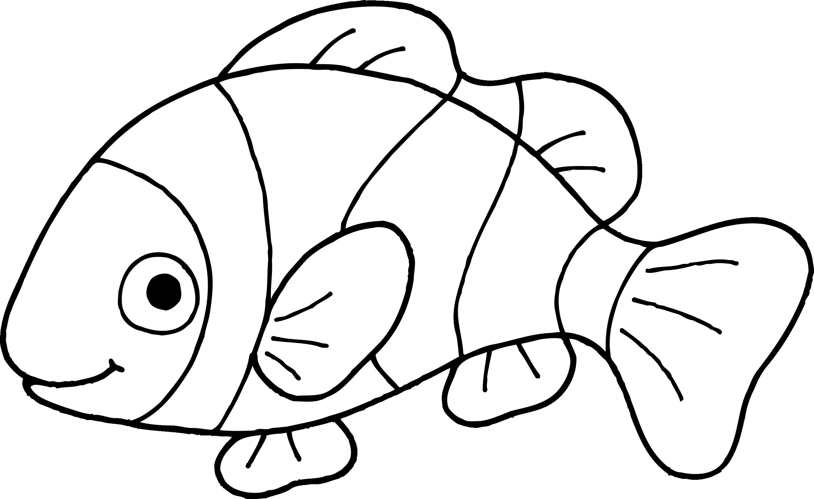 Fish clipart for coloring vector library stock Clownfish Clip Art Fish Clipart Outline 5 | fish | Fish clipart ... vector library stock