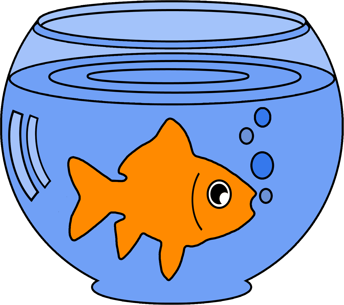 Fish clipart in a bowl graphic download Read Goldfish Bowl Care Online Free | YUDU graphic download