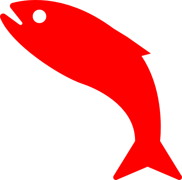 Red clip art at. Fish clipart vector