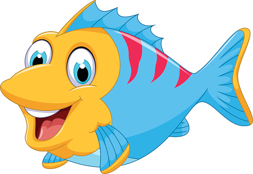 Fish with different mouth shapes with color clipart.  cute clipartlook