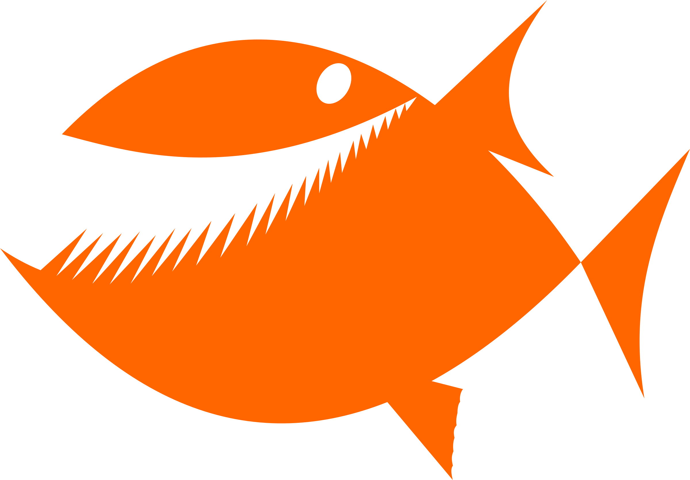 Fish with hook in mouth clipart