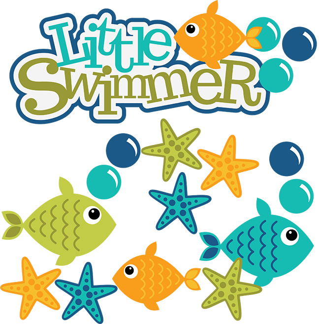 Fish clipart svg vector freeuse stock Little Swimmer SVG scrapbook files fish svg file fish cut files for ... vector freeuse stock