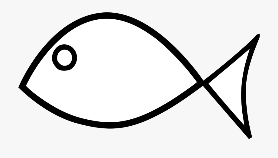 Simple bass clipart black and white clipart transparent download Fish Black And White Fish Outline Clipart Black And - Simple Fish ... clipart transparent download