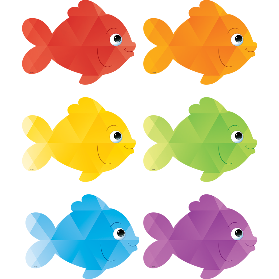 Fish divider clipart clipart royalty free stock TCR 3549 COLORFUL FISH CUTOUTS - Educators at Heart clipart royalty free stock