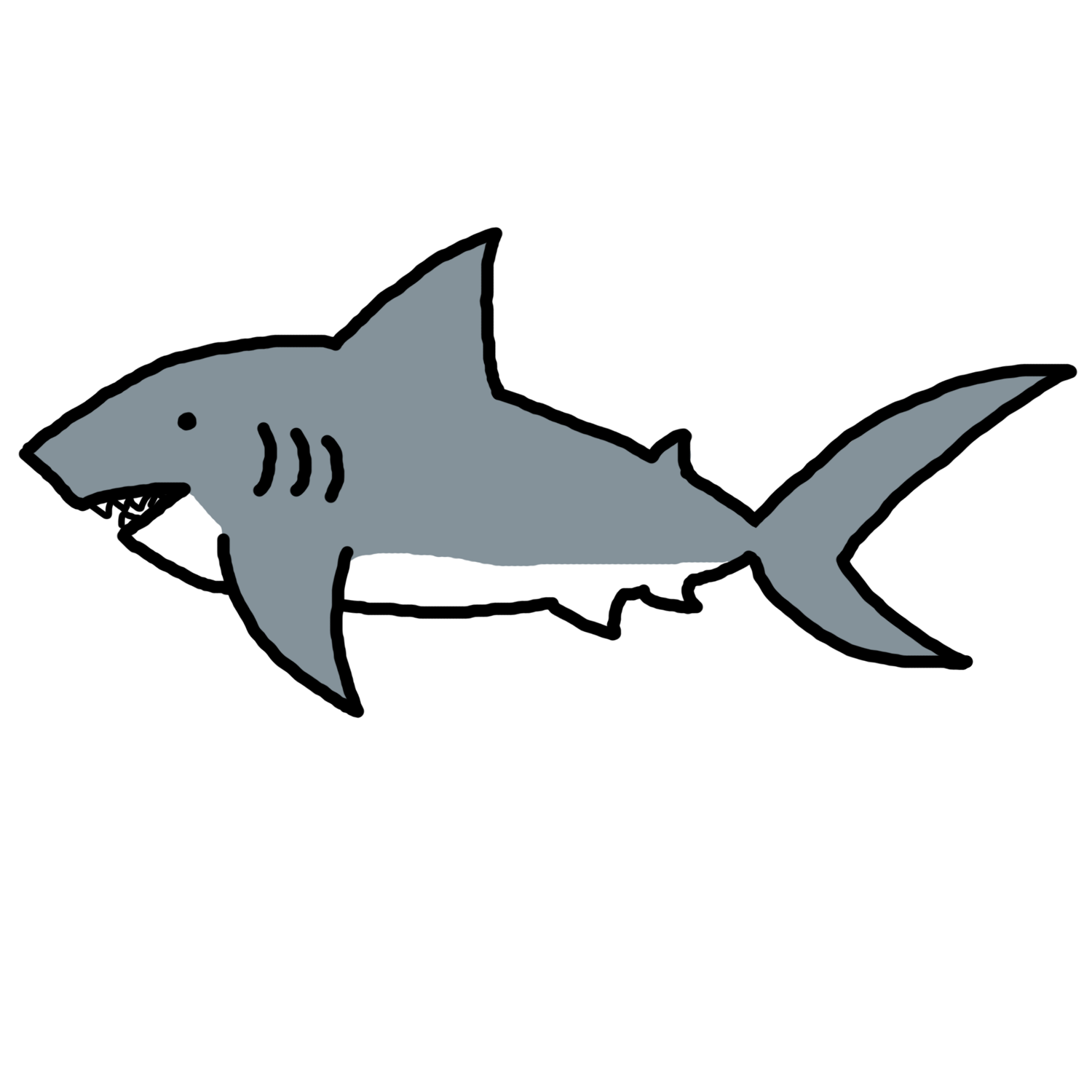 Fish easy clipart picture black and white library Shark Clipart | Children's Ministry | Pinterest | Shark and Clip art picture black and white library