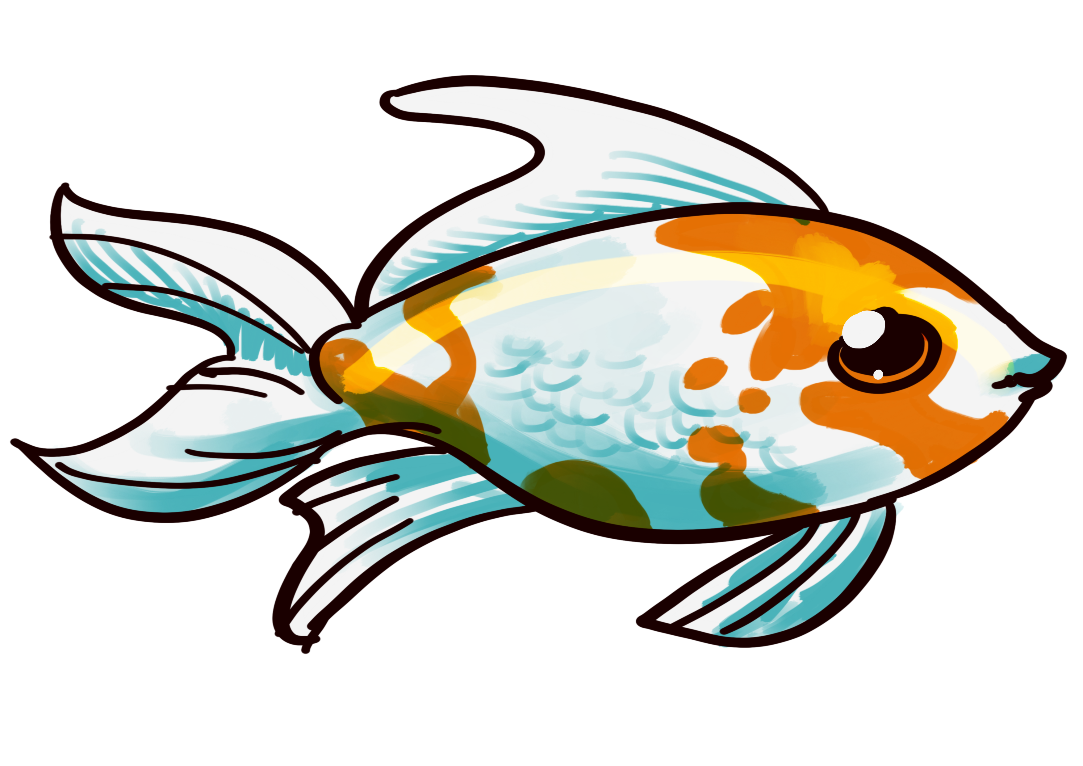 Fish feeder clipart png black and white library Comet Goldfish - Comet Goldfish Care and info png black and white library