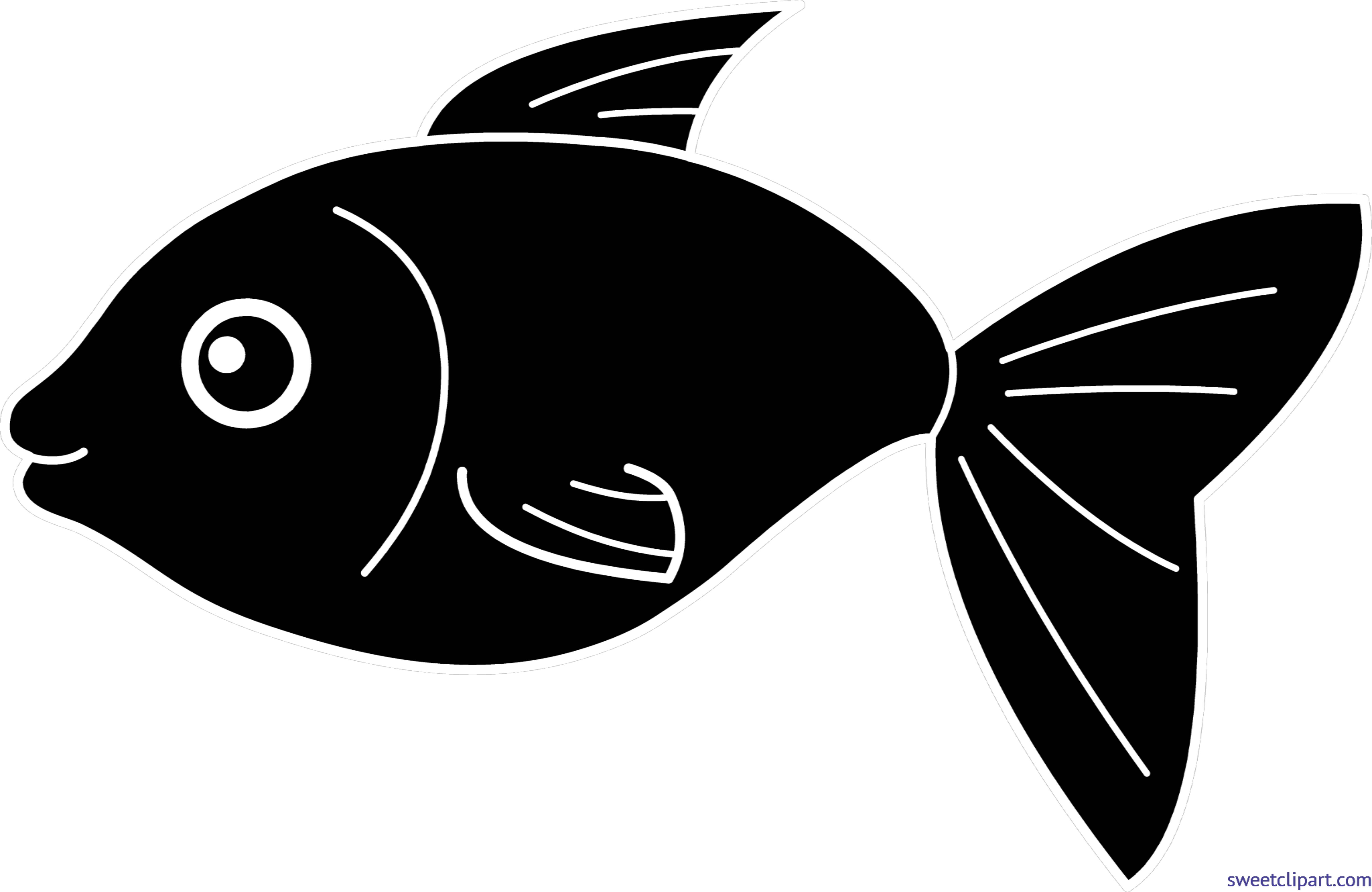Lips the fish clipart picture royalty free download Happy Black Fish Clip Art - Sweet Clip Art picture royalty free download
