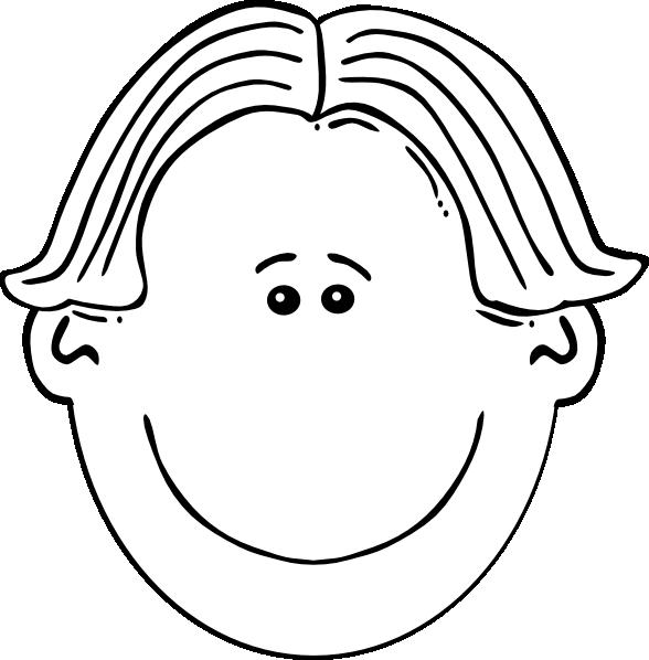 Fish head clipart black and white clip free Boy Face Black & White Clip Art at Clker.com - vector clip art ... clip free