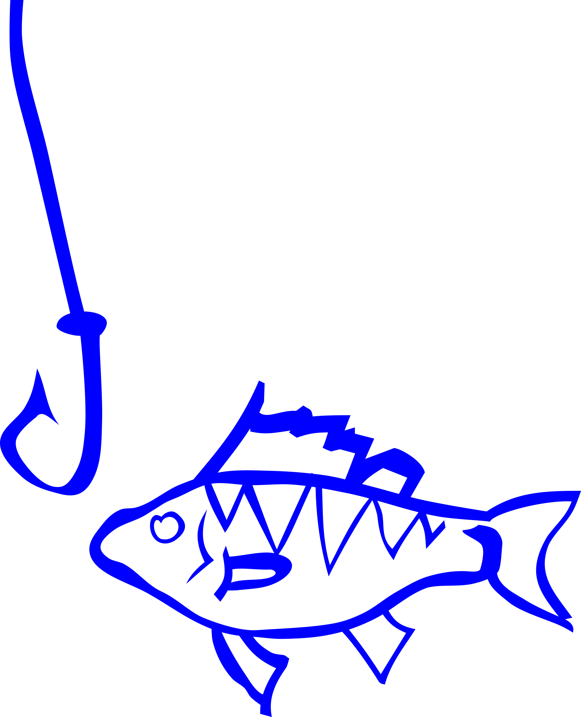Fish on a line clipart svg library library Clipart - Graffiti Fish and hook svg library library