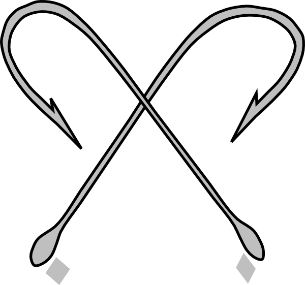 Fish hook clipart black and white jpg free stock Df Fishing Hook Clip Art at Clker.com - vector clip art online ... jpg free stock