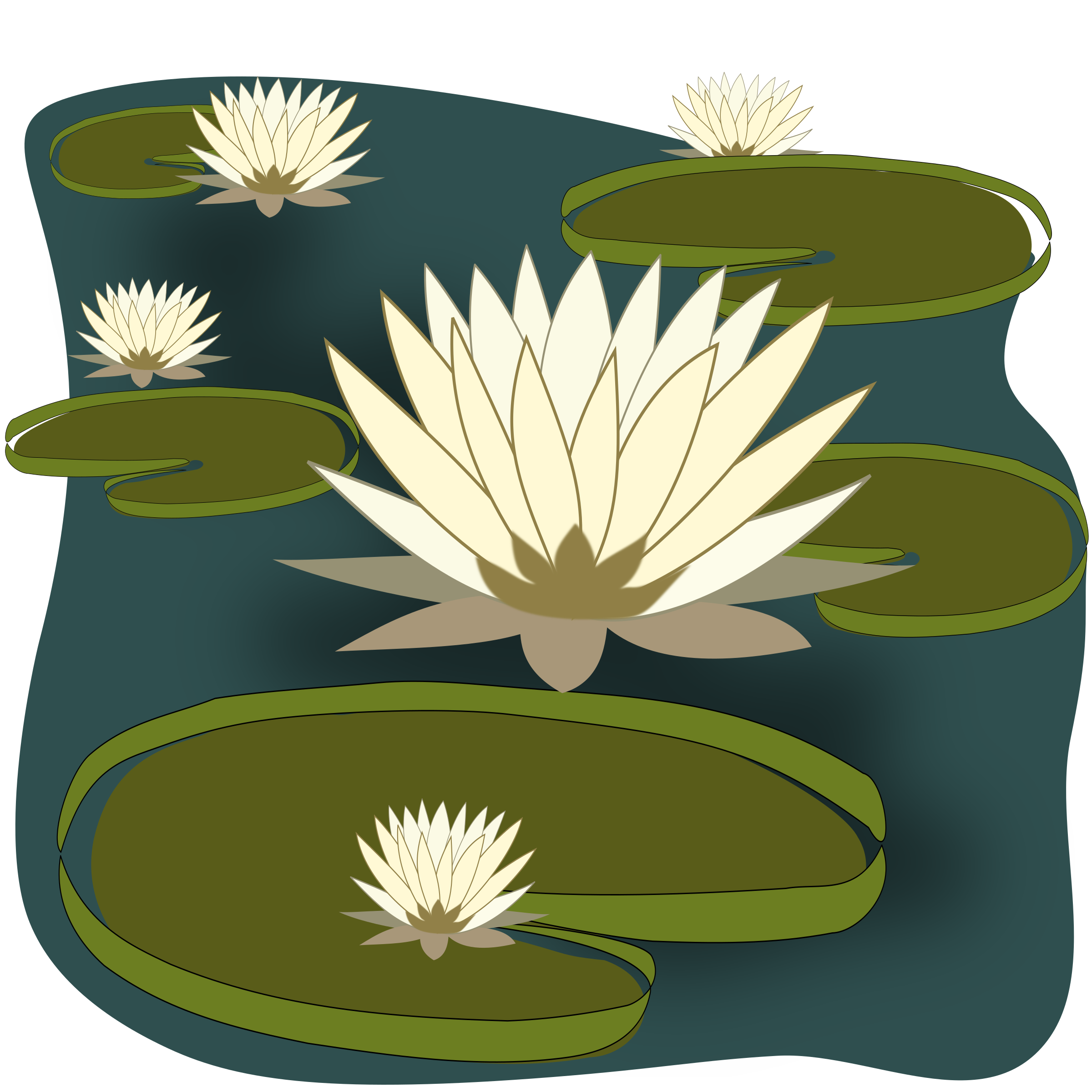 Fish pound clipart jpg freeuse download Water Lily Pond Clipart & Water Lily Pond Clip Art Images #2267 ... jpg freeuse download