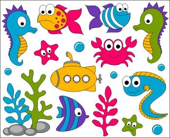 Fish in ocean clipart. Under the sea clip