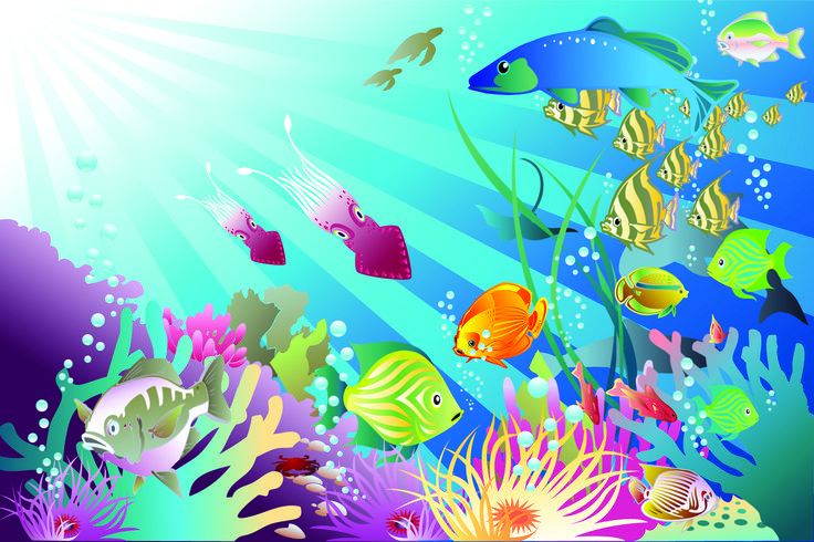Free cliparts download clip. Fish in ocean clipart