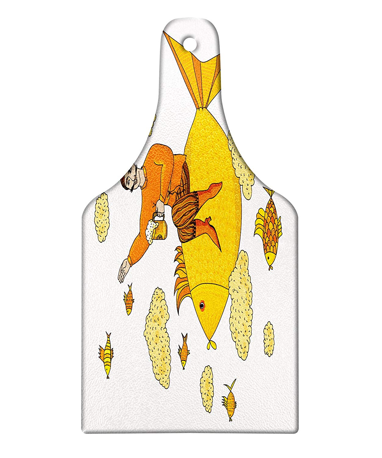 Fish in the shape of a wine glass clipart transparent library Amazon.com: Lunarable Manly Cutting Board, Man Holding Glass of Beer ... transparent library