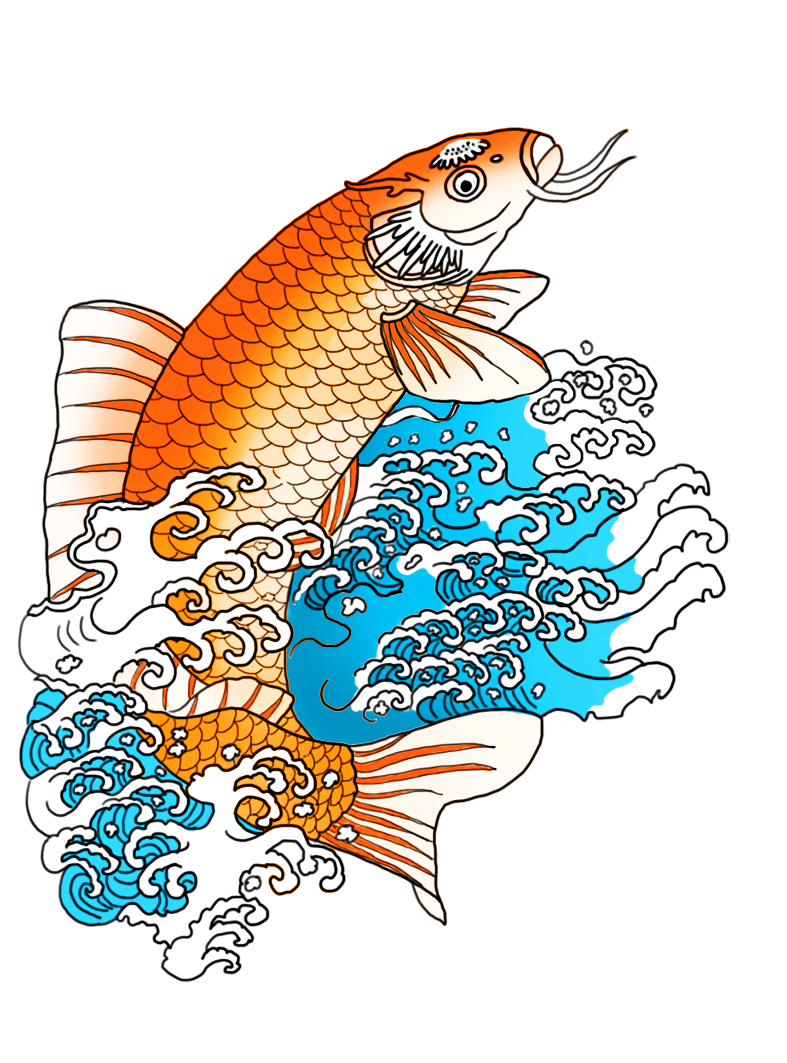 Fish in the waves clipart clip art transparent stock orange koi fish in waves | Clipart | Pinterest clip art transparent stock