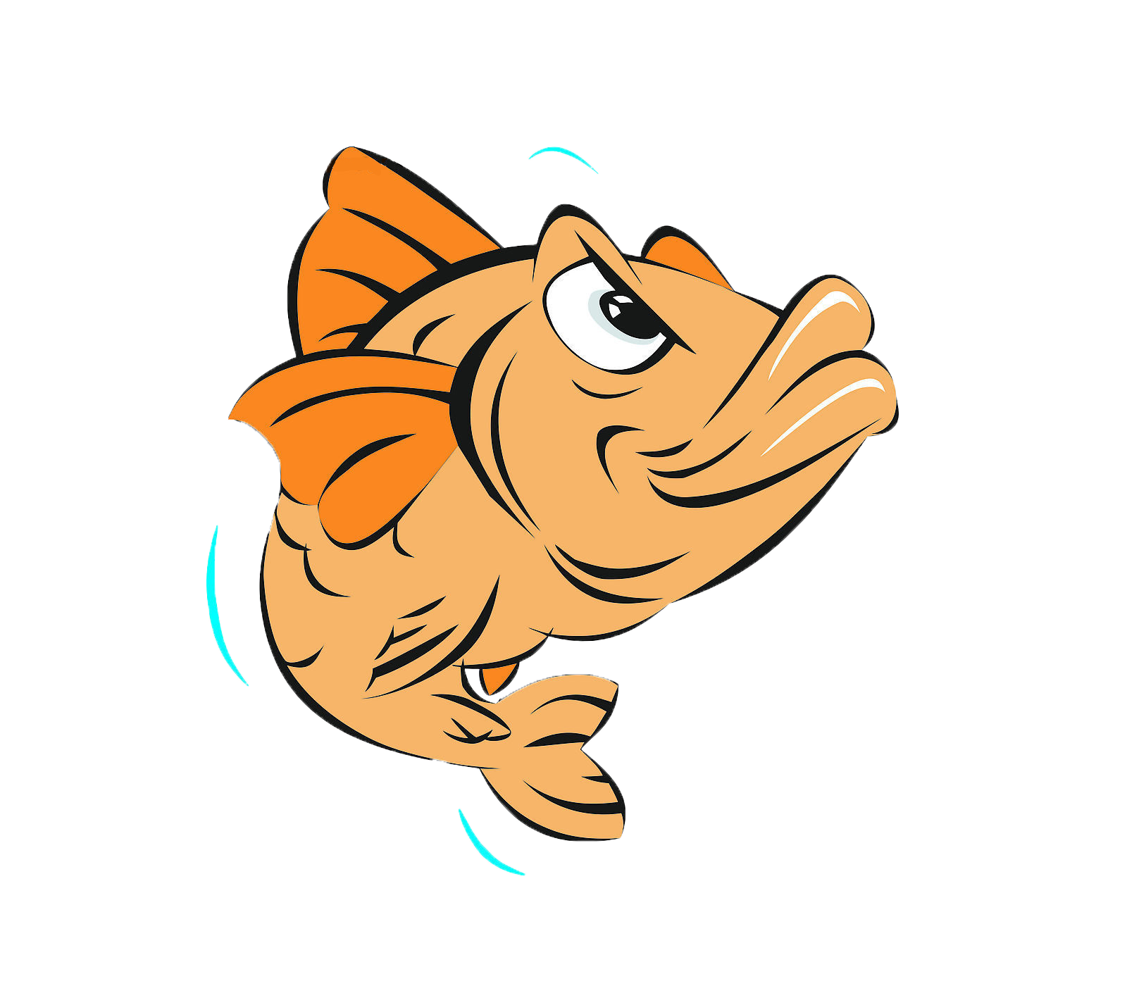 Free fish cartoon clipart picture black and white library Cartoon Fish Clip art - fish,Cartoon fish,Jumping Fish,Angry Fish ... picture black and white library