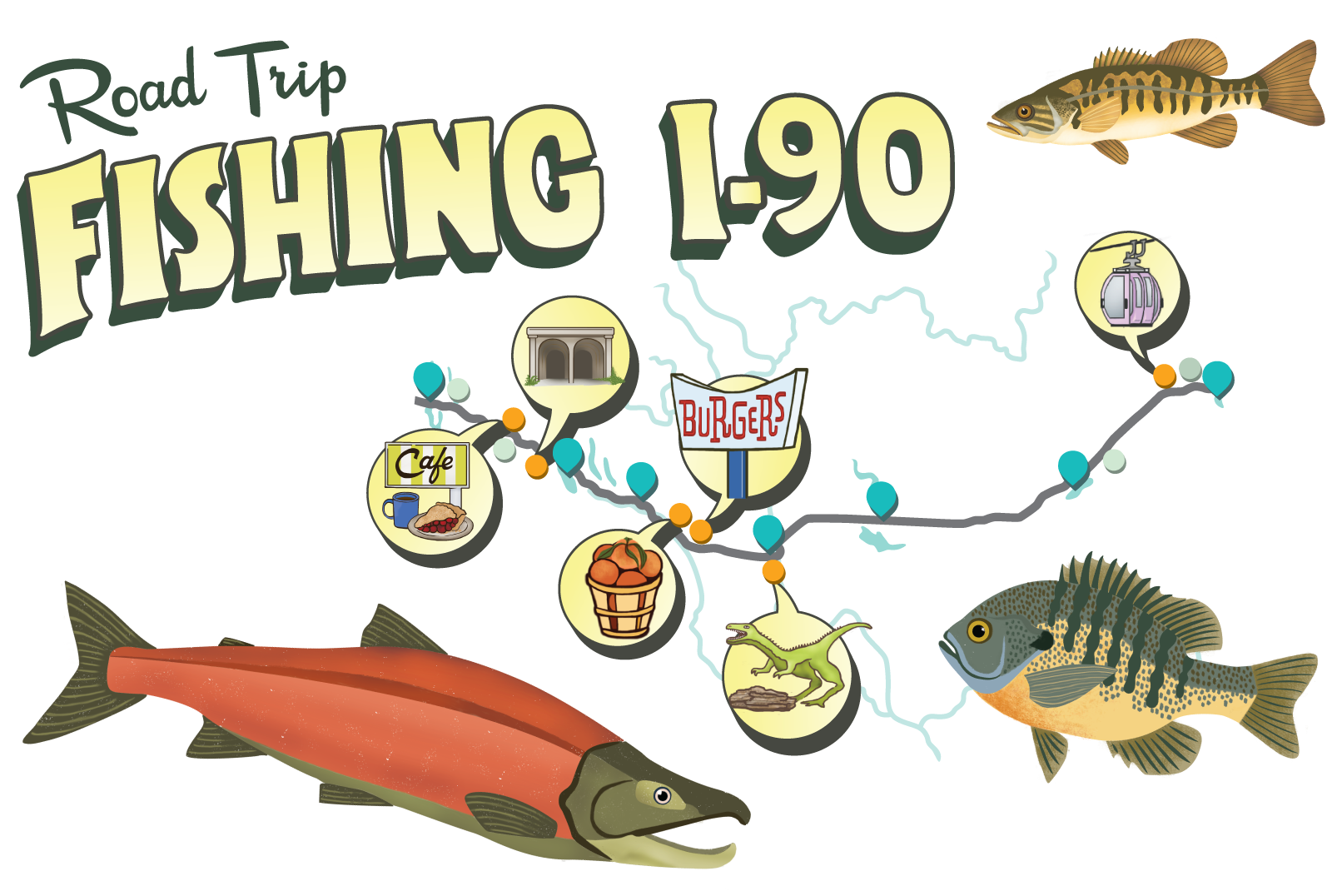 Fish lake clipart graphic black and white library Fishing I-90 graphic black and white library