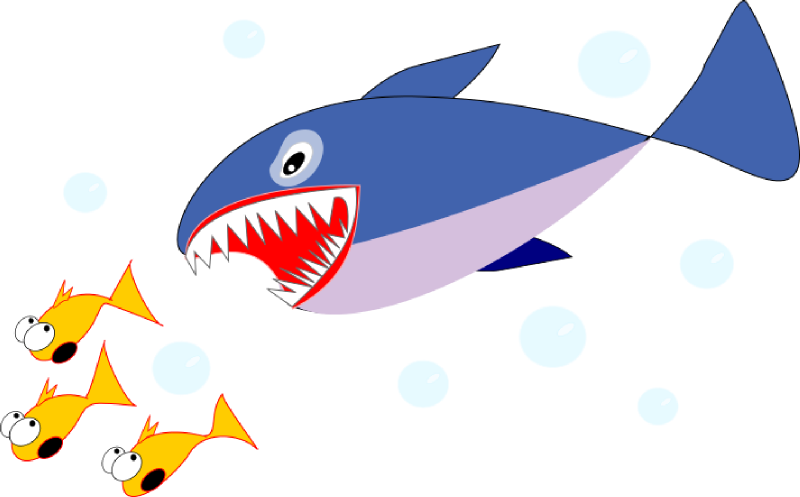 Fish mouth clipart png library Shark eating fish clipart png library
