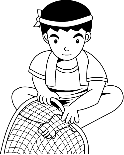 Simple fish clipart black and white picture black and white 28+ Collection of Fishing Net Clipart Black And White | High quality ... picture black and white