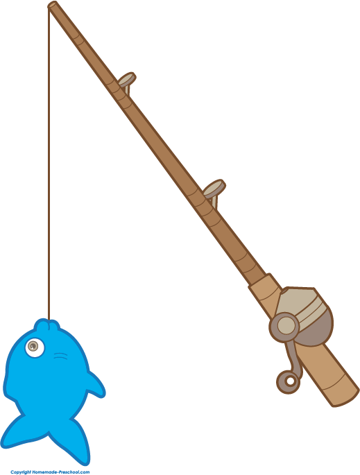 Free fathers day images. Fish on pole clipart