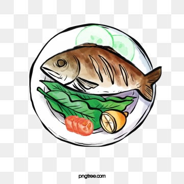 Fish on the grill clipart. Grilled png vector psd