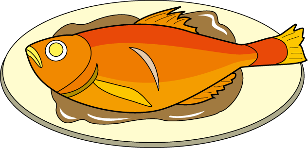 Fish on the grill clipart. Cooking clip art library