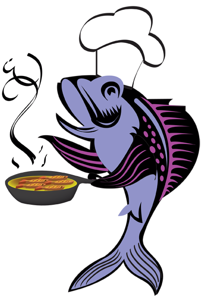 fry clipartlook. Fish on the grill clipart