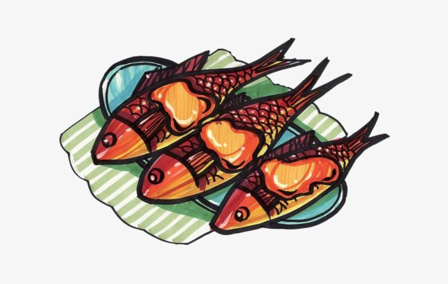 Grilled portal . Fish on the grill clipart