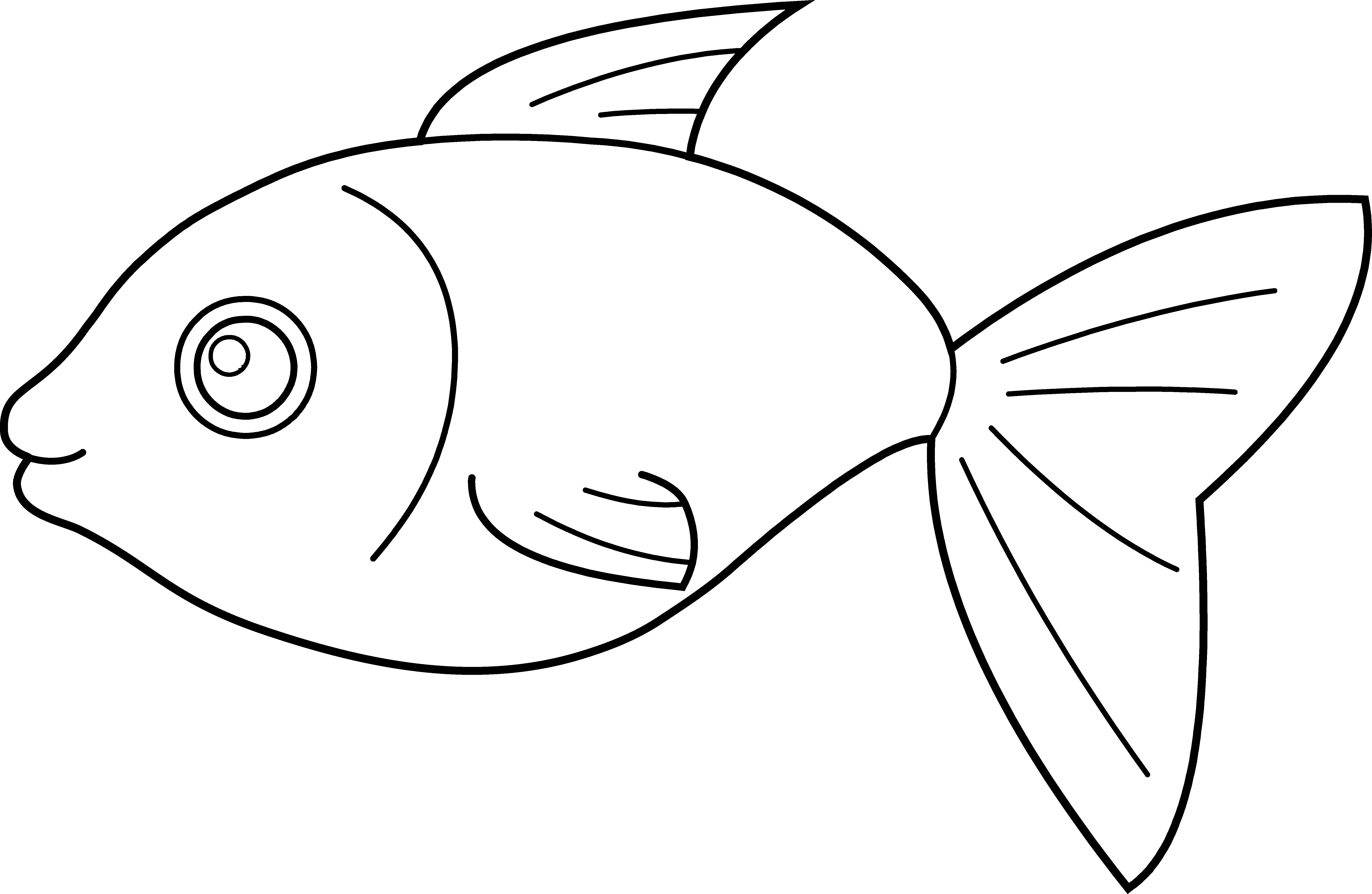 Free clipart of fish coloring pages vector free Fish Black And White vector free