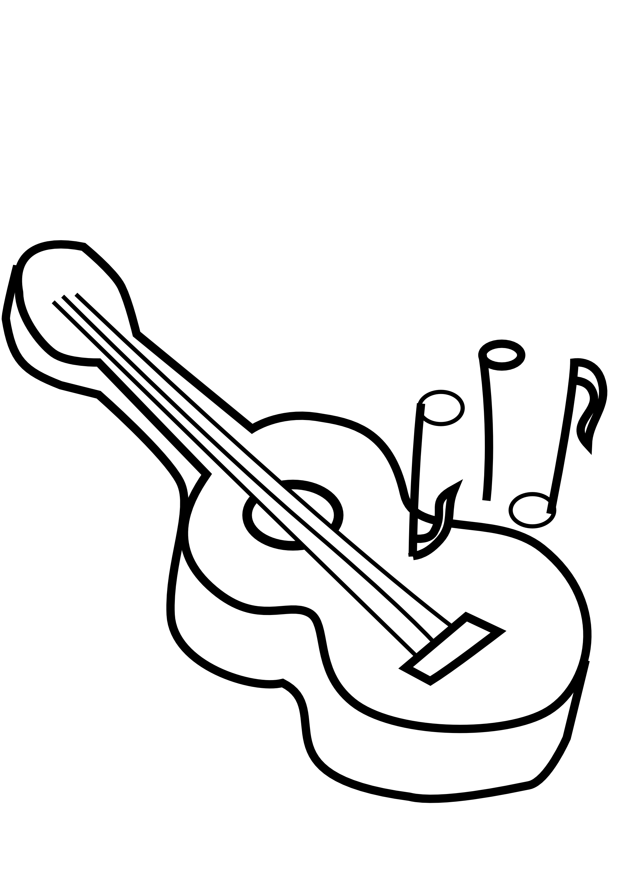 Fish pond clipart black and white clip library Guitar Clipart Gitara Free collection | Download and share Guitar ... clip library