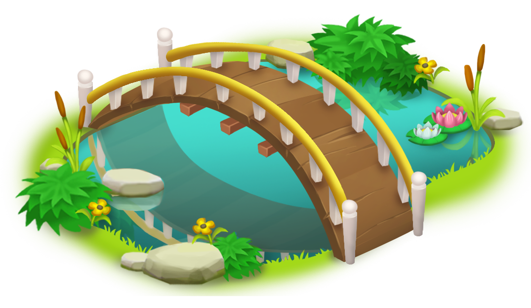 Bridge and png clip. Fish pond game clipart
