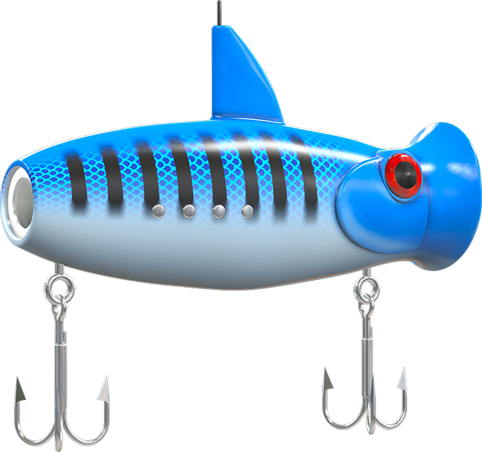 Fish popper clipart svg freeuse stock Pre-Order | Eco-net - the world's first digital fishing lure svg freeuse stock
