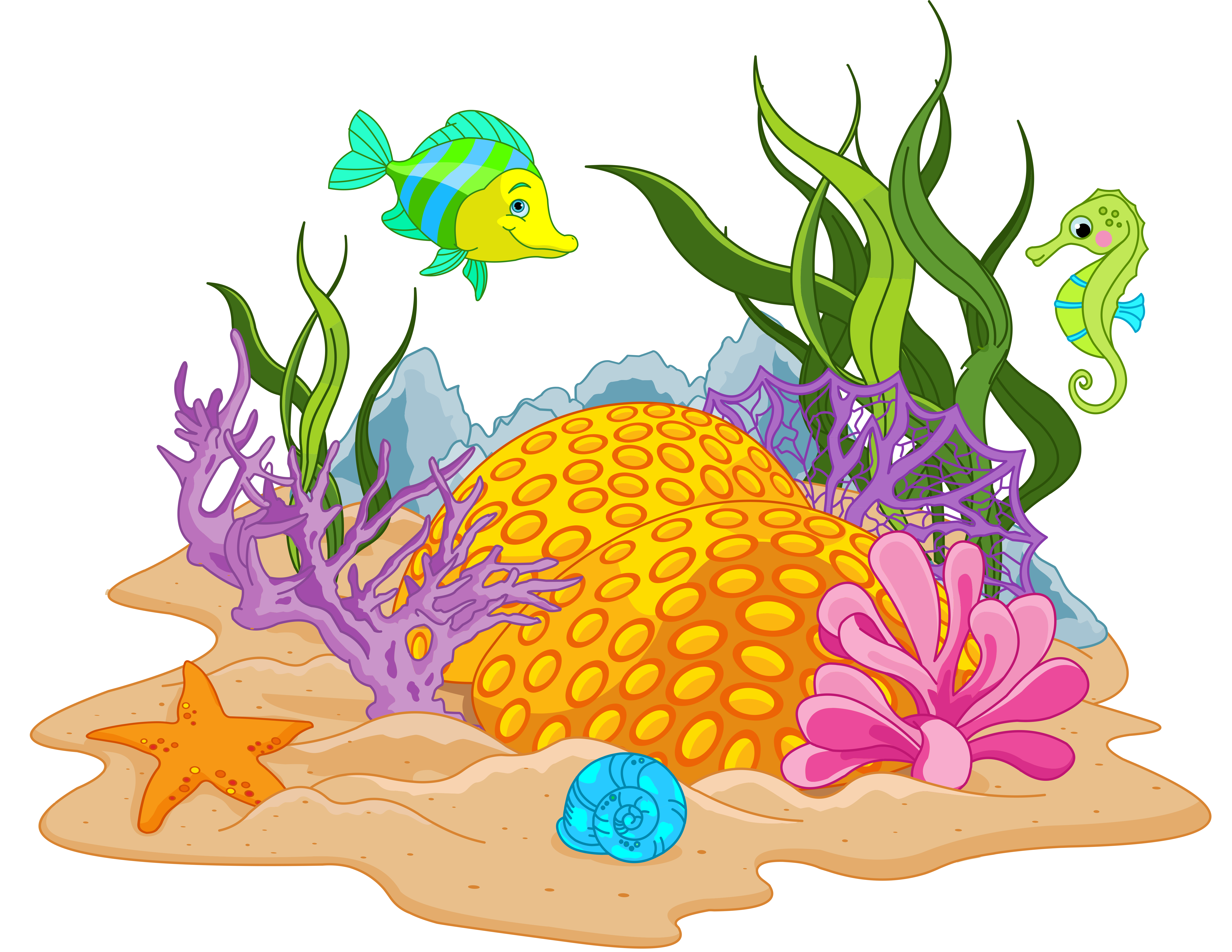 Fish tank castle clipart.  ce d f