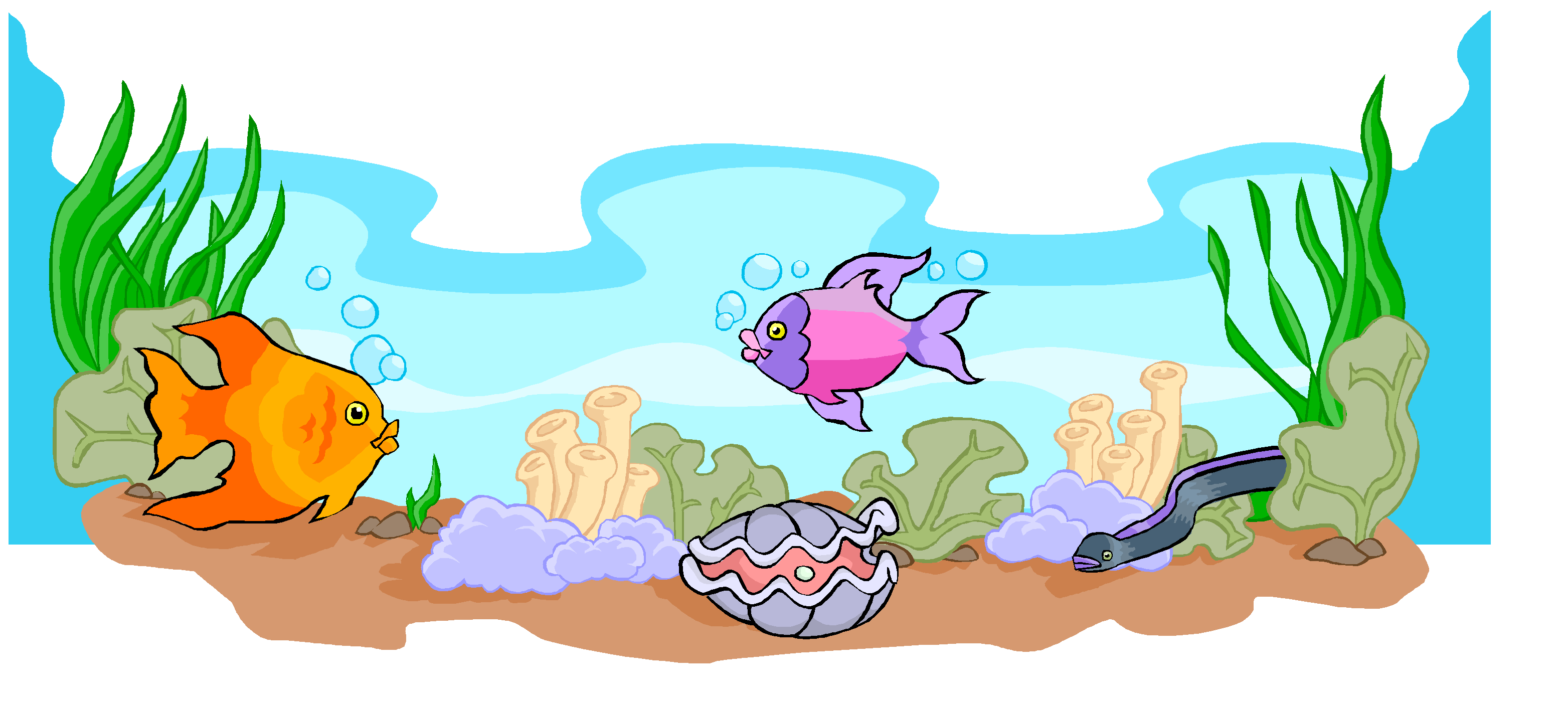 Fish scene clipart banner transparent 28+ Collection of Ocean Ecosystem Clipart | High quality, free ... banner transparent