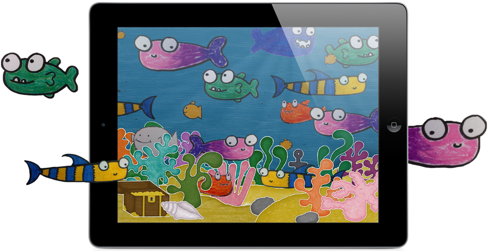 Fish scene clipart picture royalty free download Squiggle Fish :: Stripey Design :: iPad only :: Extend craft time by ... picture royalty free download