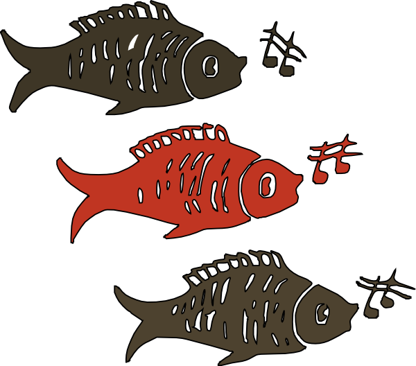 Red fish clipart picture royalty free Singing Fish Clip Art at Clker.com - vector clip art online, royalty ... picture royalty free
