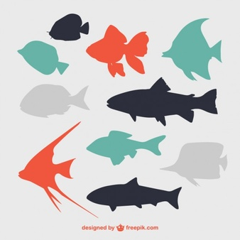 Seafood vector clipart vector freeuse download Fish Silhouette Vectors, Photos and PSD files | Free Download vector freeuse download