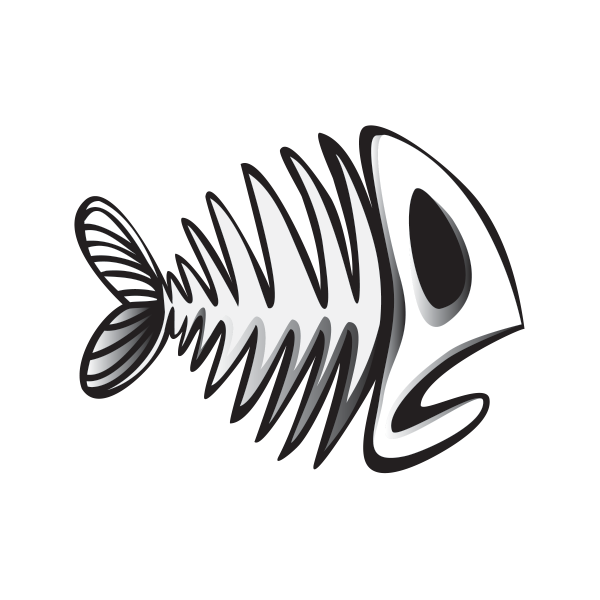 Fish skeleton clipart jpg freeuse download Gallery: Cartoon Fish Skeleton, - DRAWING ART GALLERY jpg freeuse download