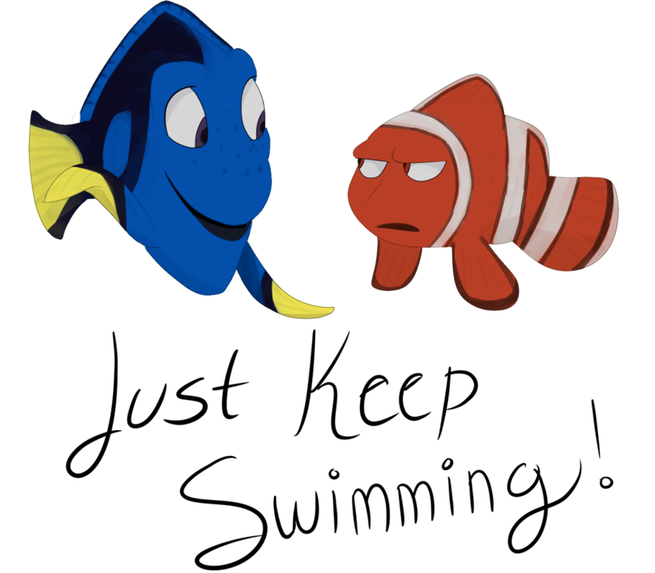 Fish swimming clipart picture free library Just Keep Swimming by Ghost-paint on DeviantArt picture free library