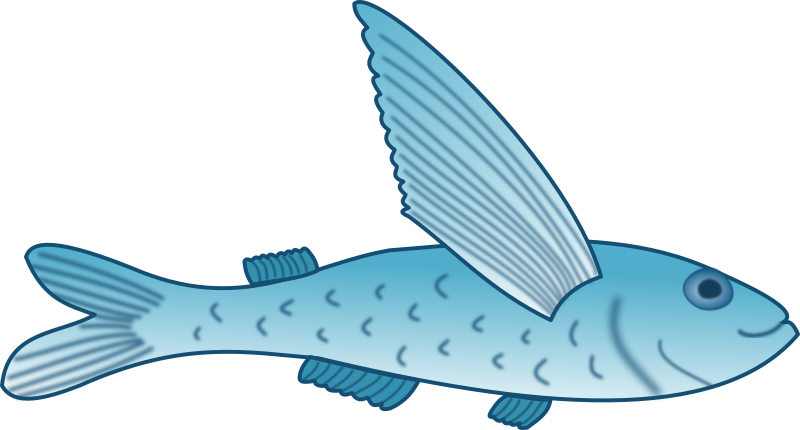 Flying fish clipart clip transparent library Clipart - Flying Fish clip transparent library