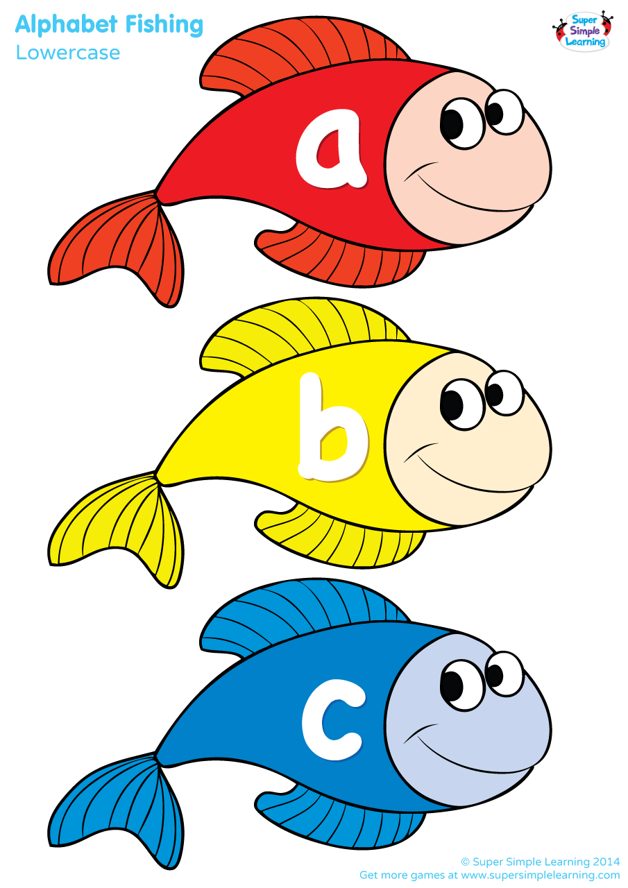 Fish teacher clipart picture royalty free download Lowercase Alphabet Fishing Game | Super Simple picture royalty free download