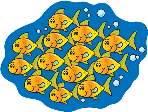 Swarms of fish clipart svg freeuse library School Cliparts Fish - Cliparts Zone svg freeuse library
