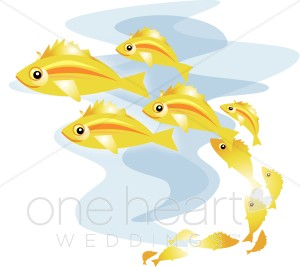 Fish teaching clipart clip royalty free stock Fish School Clipart | Beach Wedding Clipart clip royalty free stock