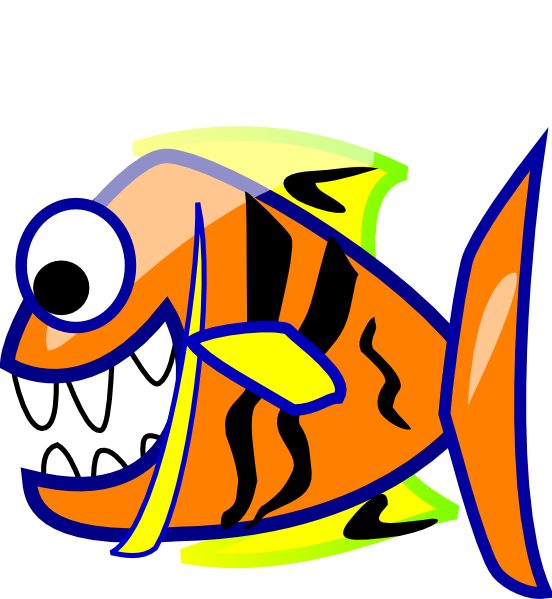 Fish with a question mark in it clipart jpg library library Orange Fish Clip Art at Clker.com - vector clip art online, royalty ... jpg library library